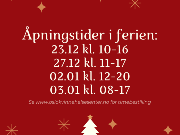 Åpningstider i juleferien